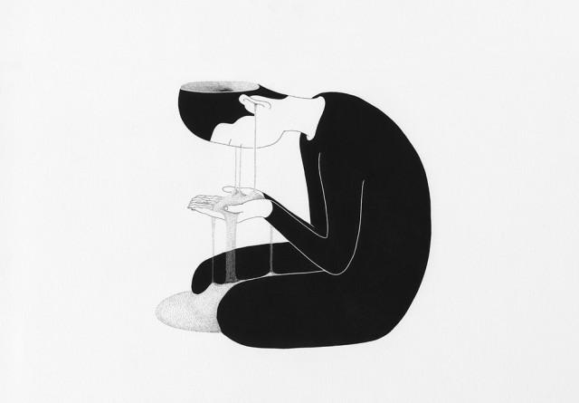 Сюрреалистические рисунки художника из Южной Кореи Дэ Хен Ким