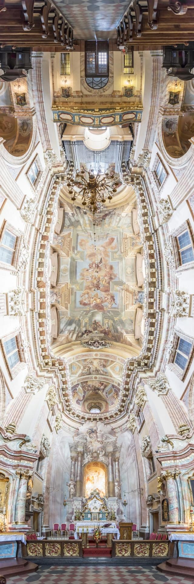 Головокружительные вертикальные панорамы церквей от Ричарда Сильвера (Richard Silver)