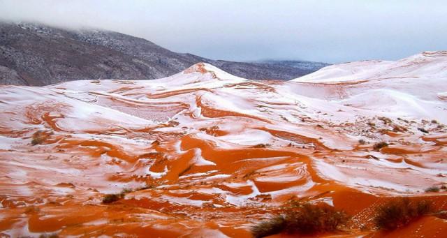 В Сахаре выпал снег впервые за 37 лет