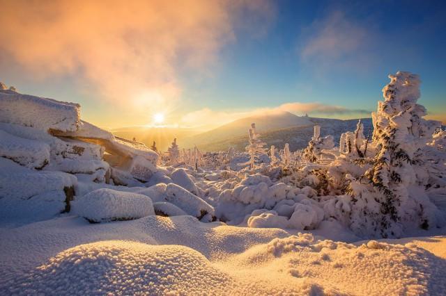 Закат в горах Крконоше