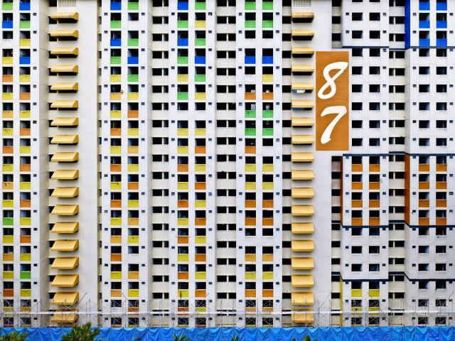 Государственный жилищный фонд Сингапура самый яркий и красивый. Фотограф Питер Штайнхауэр