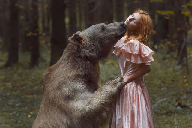 Опасные портреты с дикими животными от Катерины Плотниковой