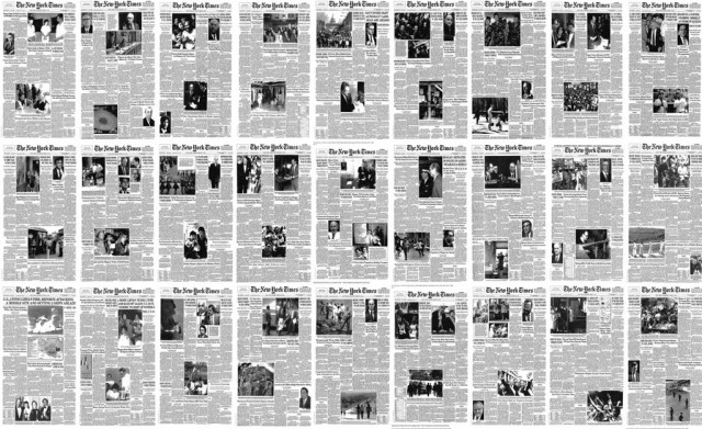 Как фотографии захватили СМИ: 60 000 страниц «The New York Times» за одну минуту