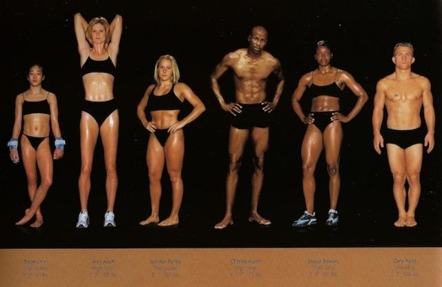 Спортивное телосложение олимпийских чемпионов на фотографиях Говарда Шатца (Howard Schatz)