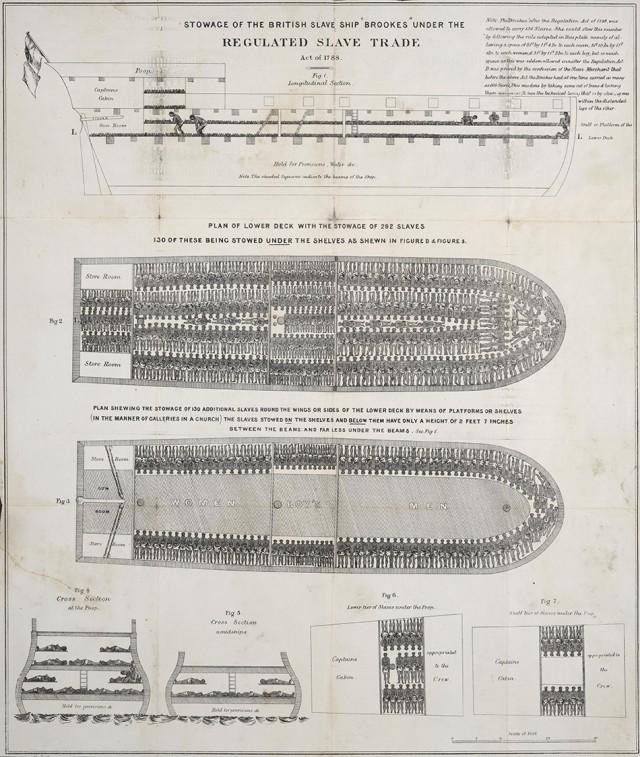 Этот плакат со схематическим изображением корабля «Брукс» помог уничтожить работорговлю в Британской империи