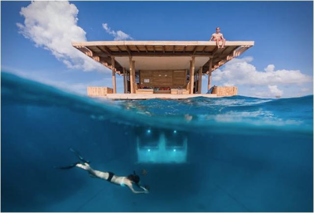 Экзотический отдых в уникальном подводном номере Manta Resort