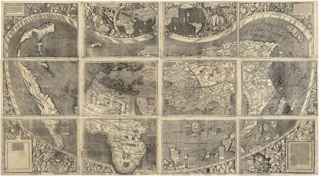 Universalis Cosmographia: карта 1507 года с первым упоминанием об Америке