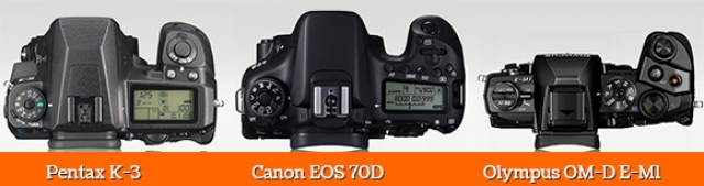 Pentax K-3, Canon EOS 70D и Olympus OM-D E-M1