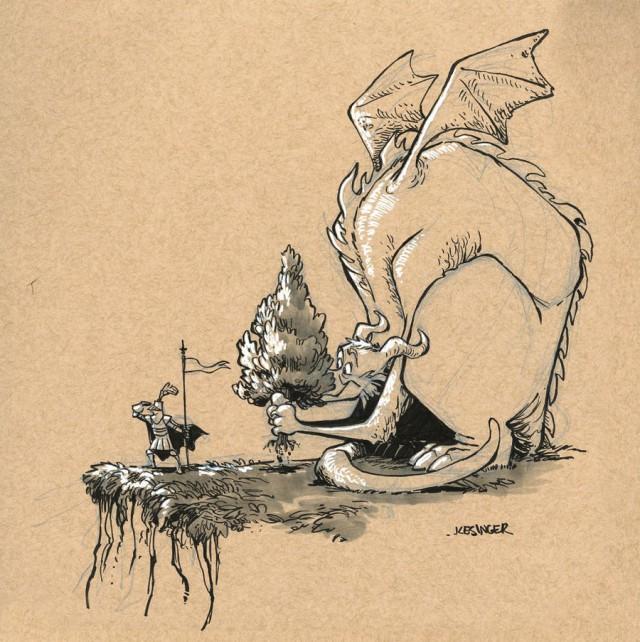 Справочник по драконам от диснеевского аниматора Брайана Кесингера