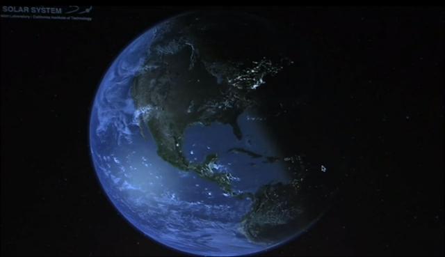 Взгляд на Солнечную систему - программа для интерактивного путешествия в космосе