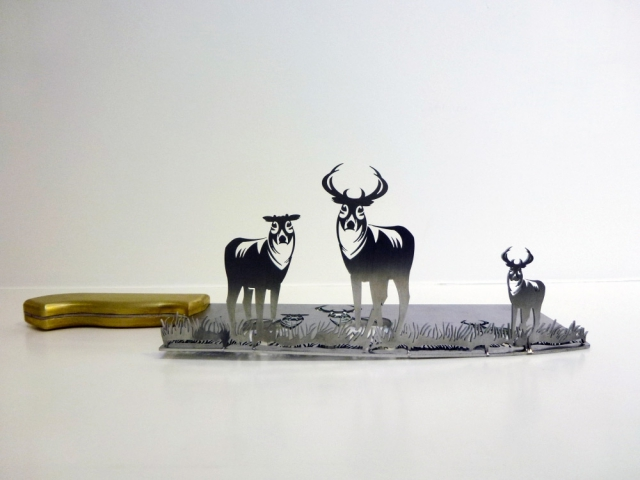 Искусство теней на мясницких ножах от Ли Хунбо