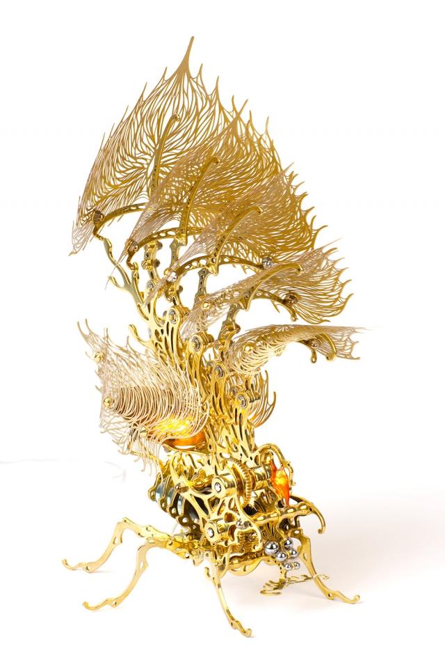 Кинетические насекомые из металла от корейского художника Ю-Рам Чу