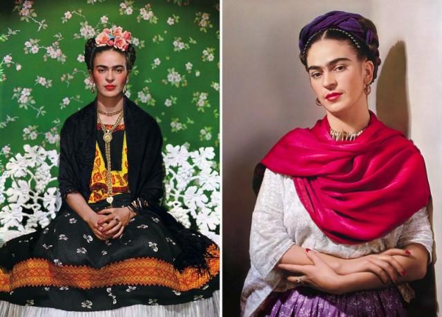 Несравненная Фрида Кало в цветных портретах Николаса Мюрея
