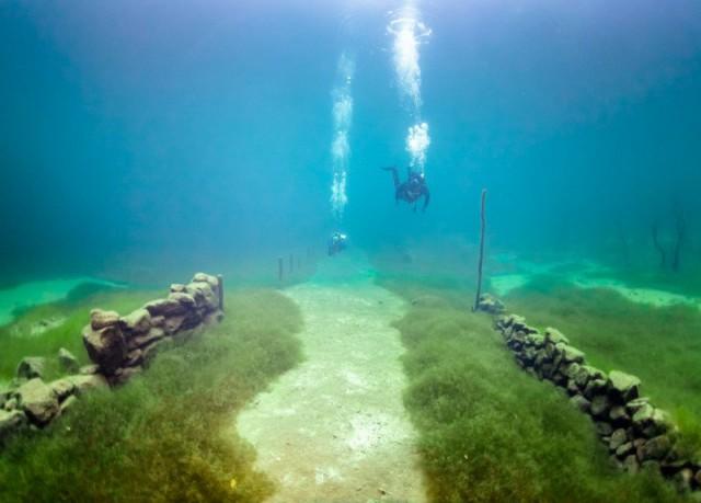 Подводные фотографии и видео норвежской Атлантиды