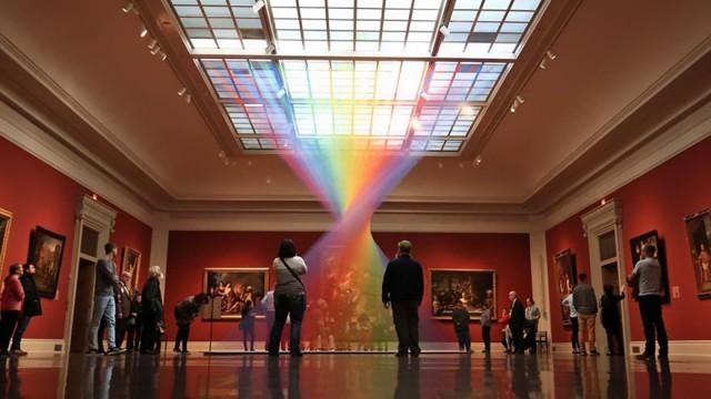 В этом музее появилась рукотворная радуга