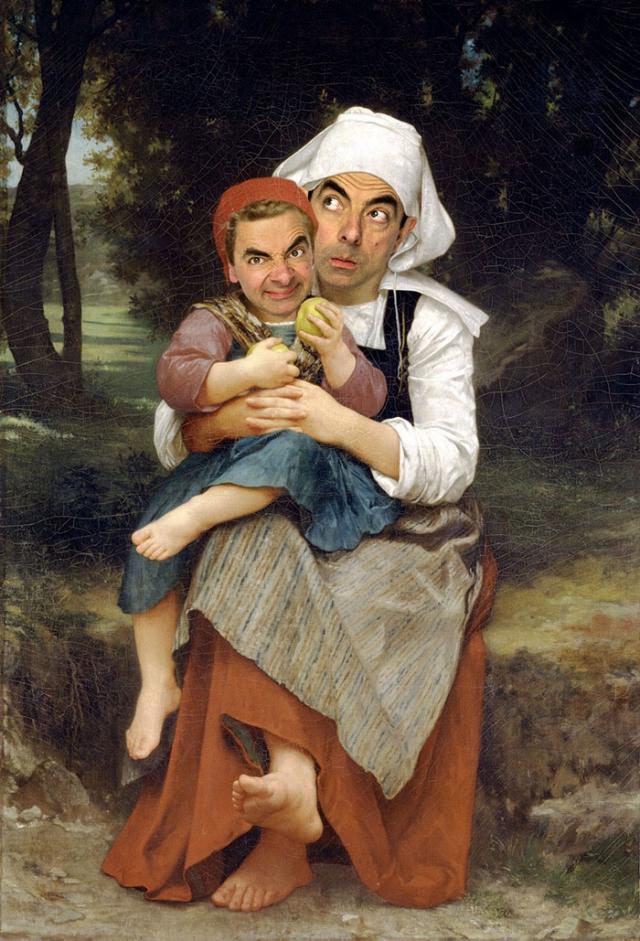 Мистер Бин стал лицом знаменитых портретов