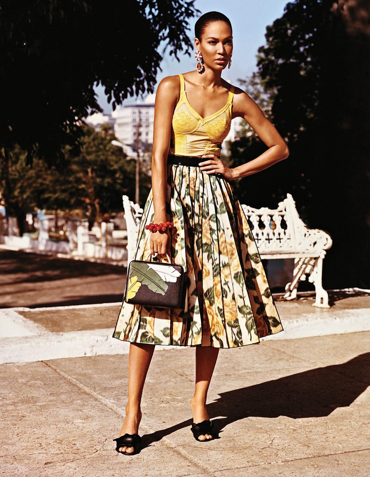 Вива Куба: Джоан Смоллс и Адриана Лима в фотосессии для W Magazine сентябрь 2015