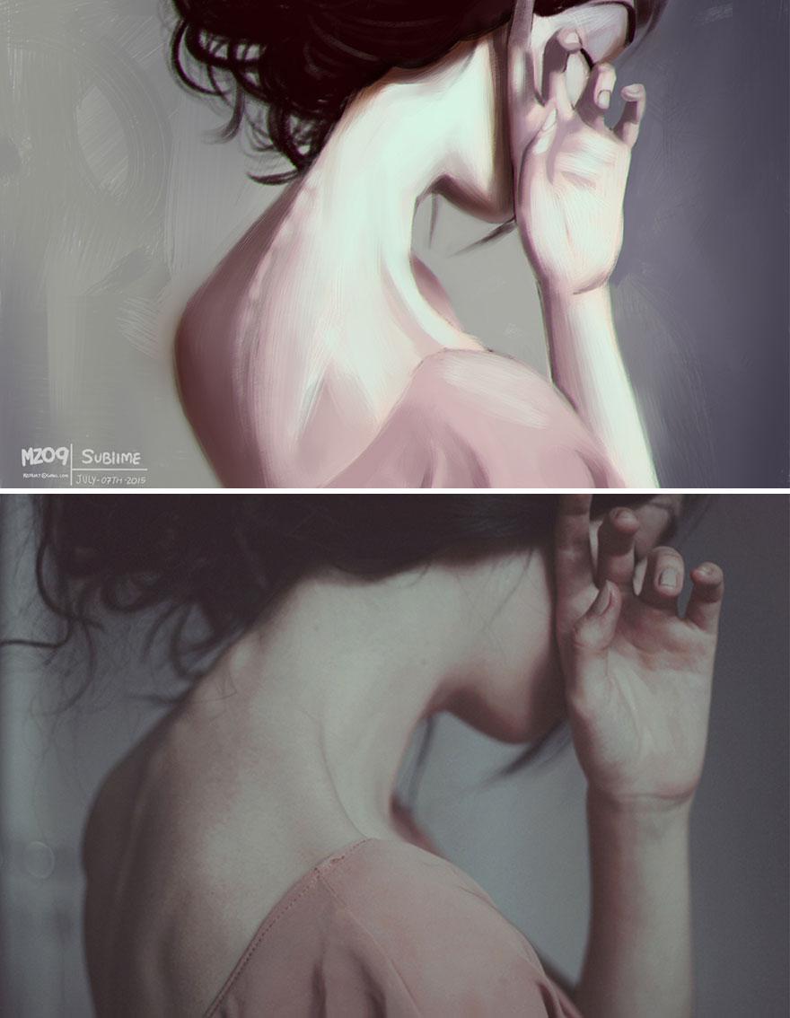 Художник Хулио Сезар превращает фотографии случайных людей в симпатичные иллюстрации-4