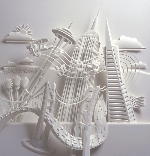18-Художник из листов бумаги создает потрясающие скульптуры