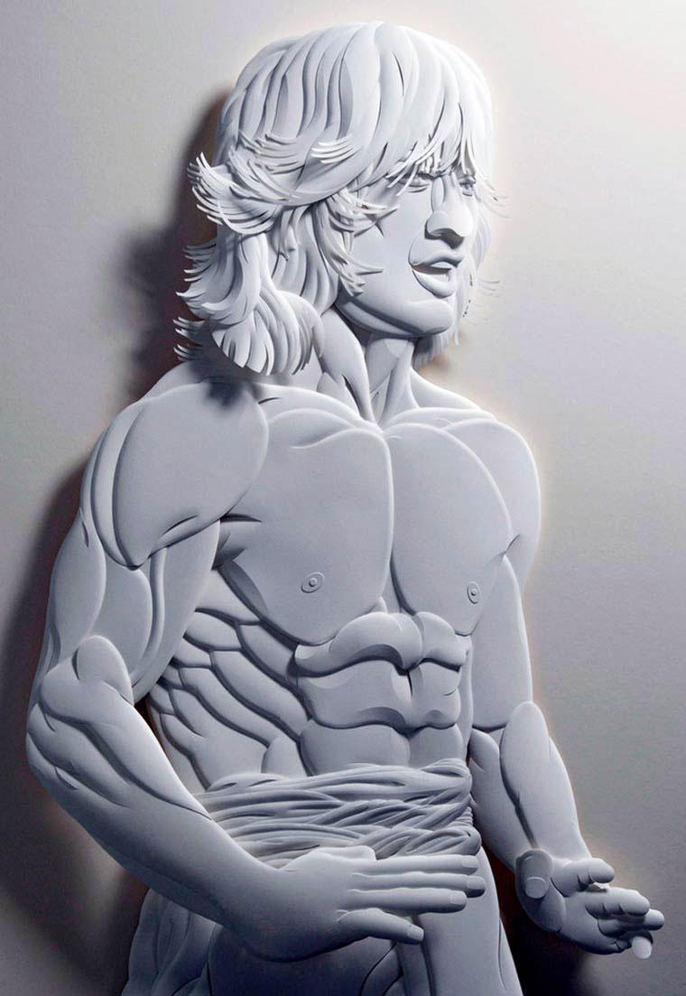 9-Художник из листов бумаги создает потрясающие скульптуры