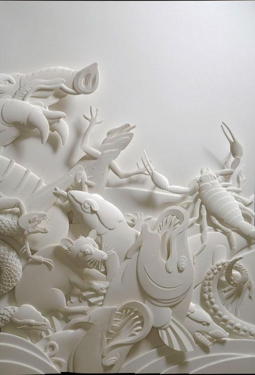 1-Художник из листов бумаги создает потрясающие скульптуры