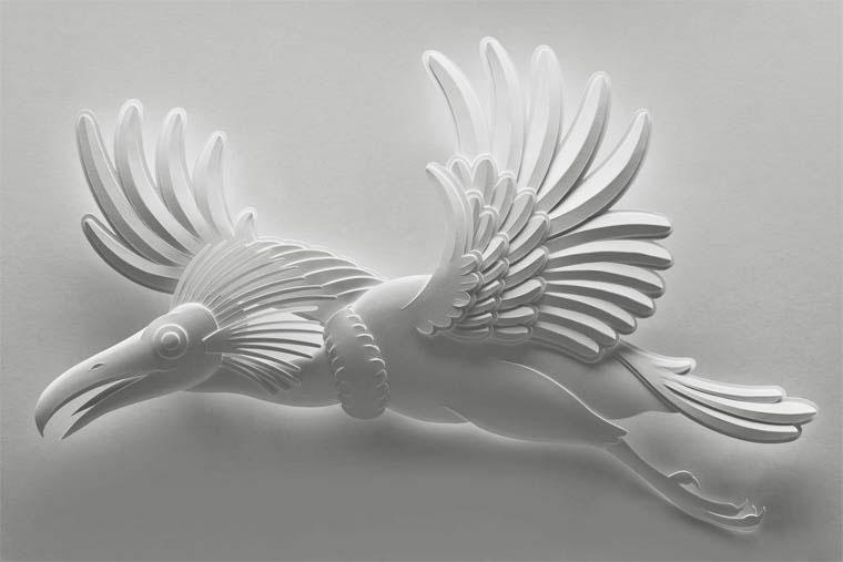 12-Художник из листов бумаги создает потрясающие скульптуры