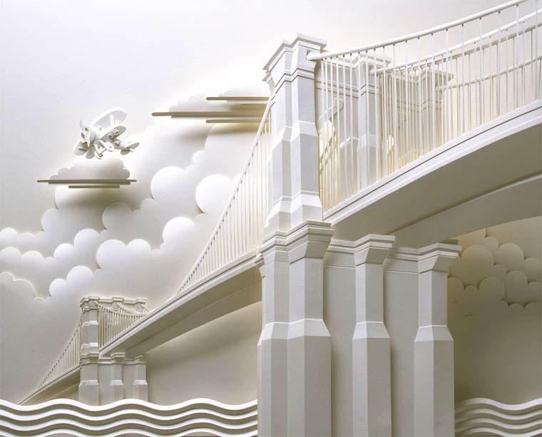 11-Художник из листов бумаги создает потрясающие скульптуры