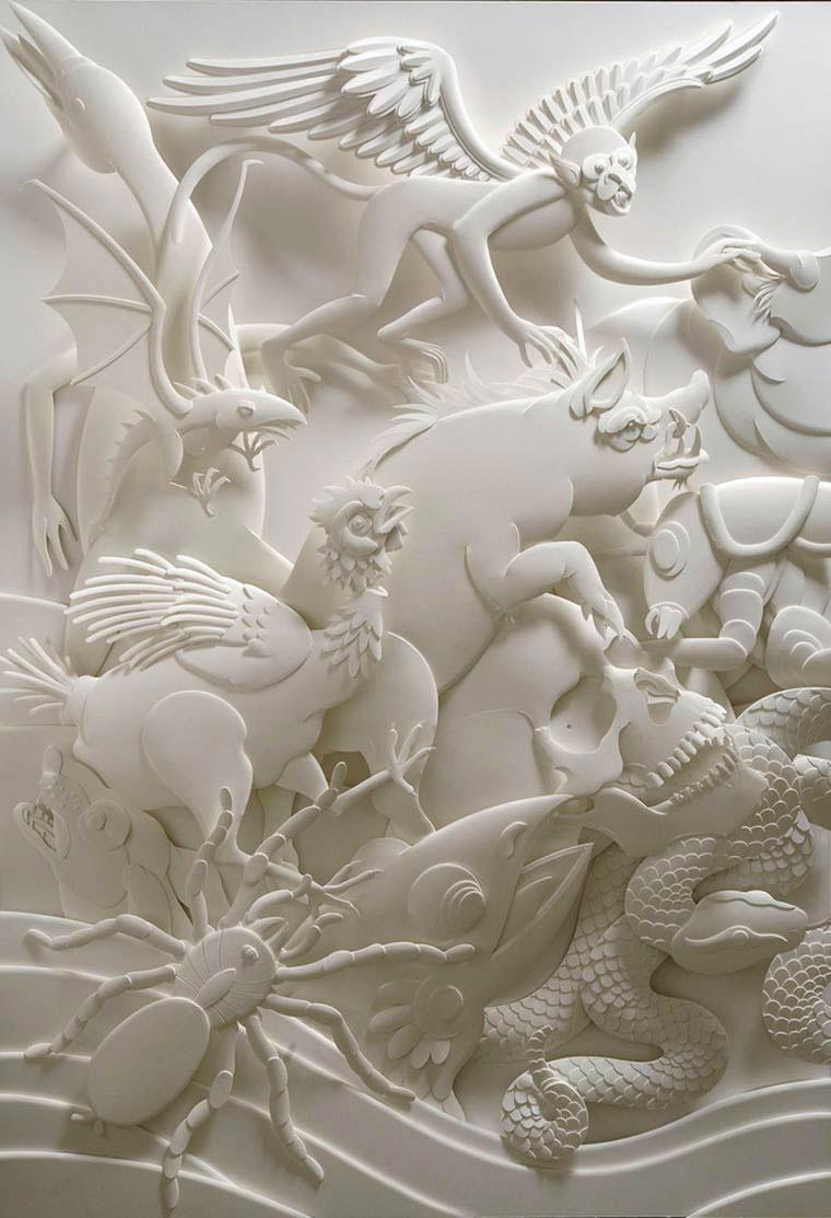 14-Художник из листов бумаги создает потрясающие скульптуры