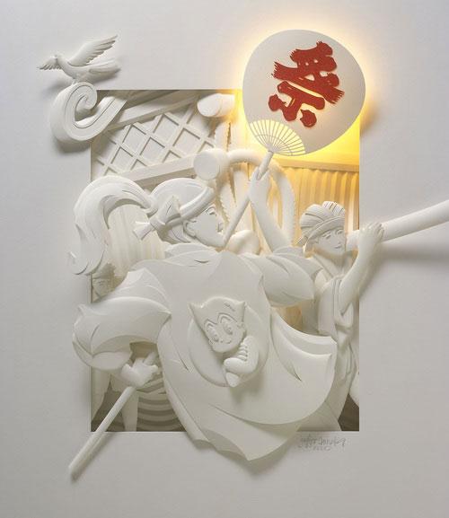 23-Художник из листов бумаги создает потрясающие скульптуры