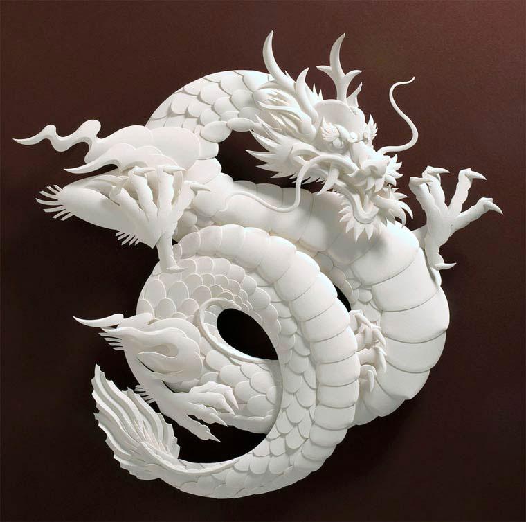 8-Художник из листов бумаги создает потрясающие скульптуры