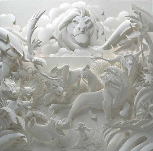 15-Художник из листов бумаги создает потрясающие скульптуры