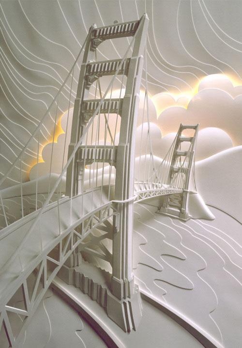 19-Художник из листов бумаги создает потрясающие скульптуры