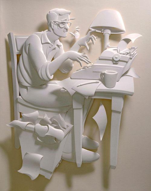 17-Художник из листов бумаги создает потрясающие скульптуры