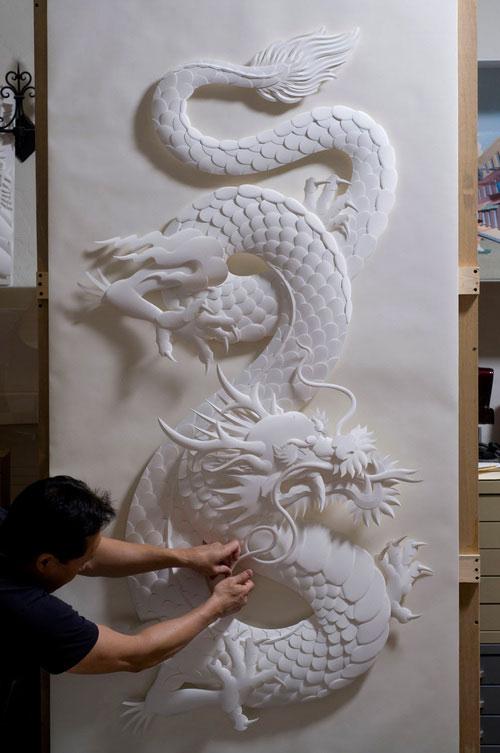 16-Художник из листов бумаги создает потрясающие скульптуры
