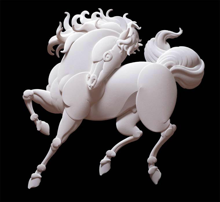 5-Художник из листов бумаги создает потрясающие скульптуры