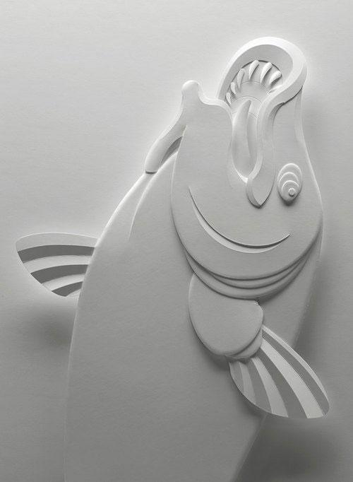 21-Художник из листов бумаги создает потрясающие скульптуры