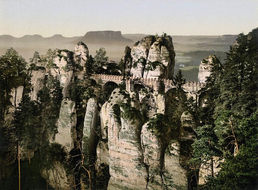 Достопримечательности Германии до военной разрухи – редкие цветные фотографии 1900 года-7