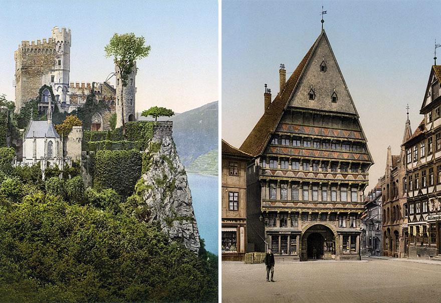 Достопримечательности Германии до военной разрухи – редкие цветные фотографии 1900 года-15