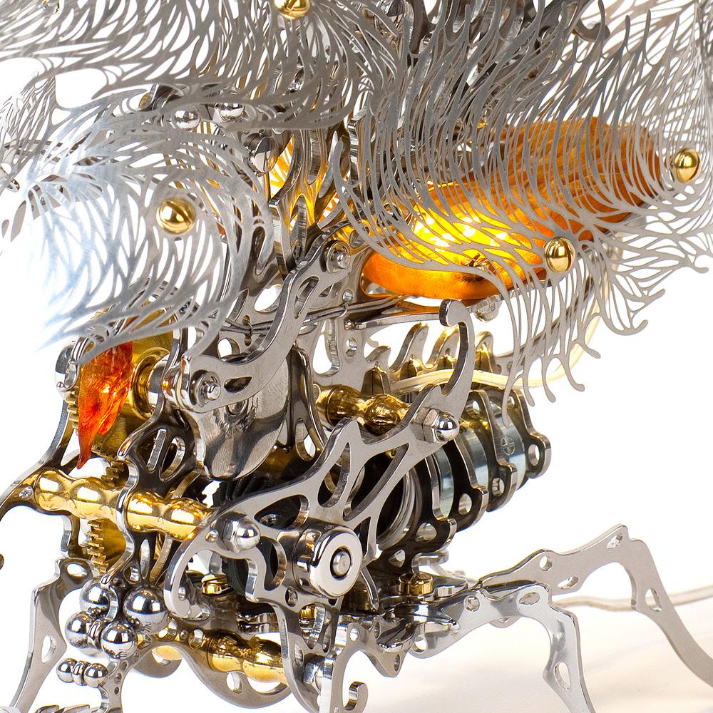 Кинетические насекомые из металла от корейского художника Ю-Рам Чу-3