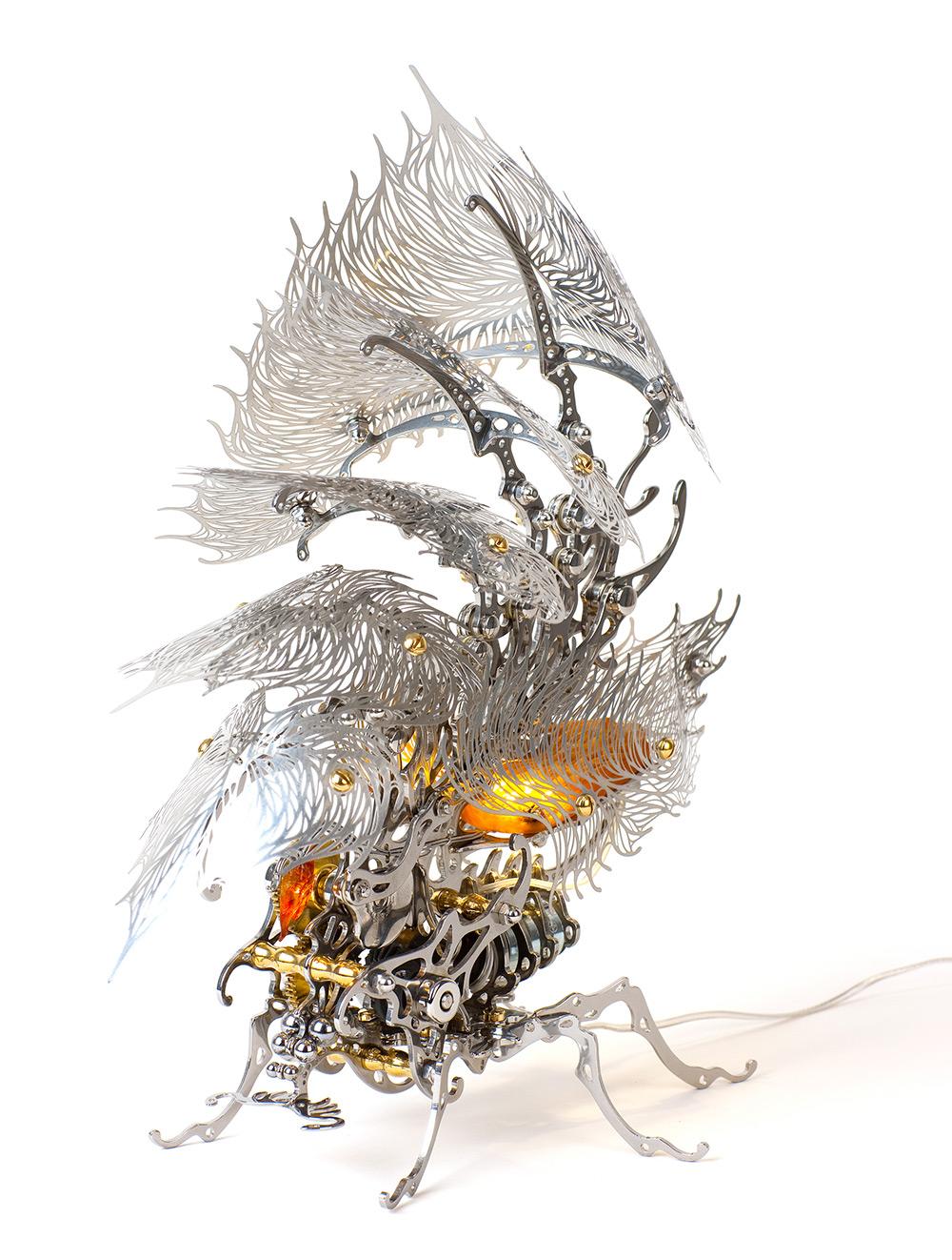 Кинетические насекомые из металла от корейского художника Ю-Рам Чу-22