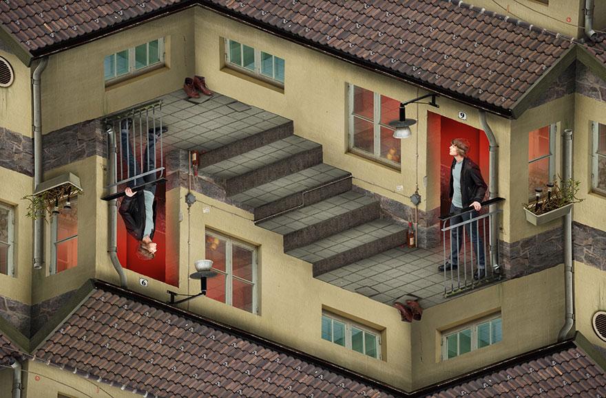 Галлюциногенные оптические иллюзии мастера фотошопа Эрика Йоханссона-5