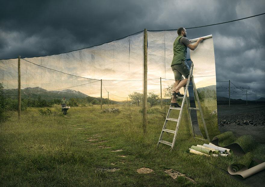 Галлюциногенные оптические иллюзии мастера фотошопа Эрика Йоханссона-3