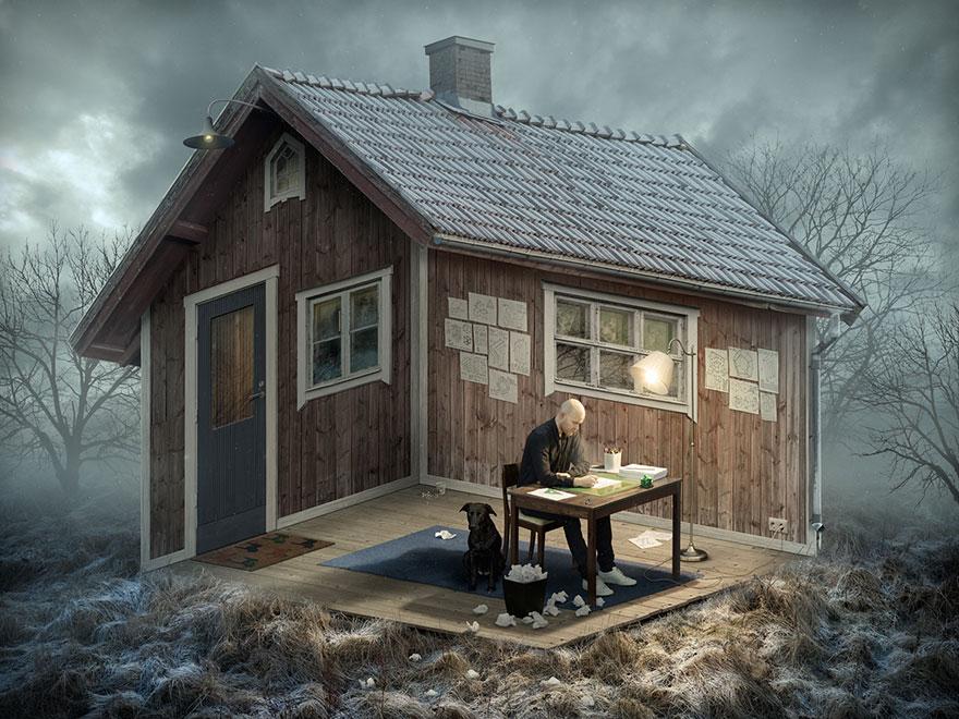 Галлюциногенные оптические иллюзии мастера фотошопа Эрика Йоханссона-1