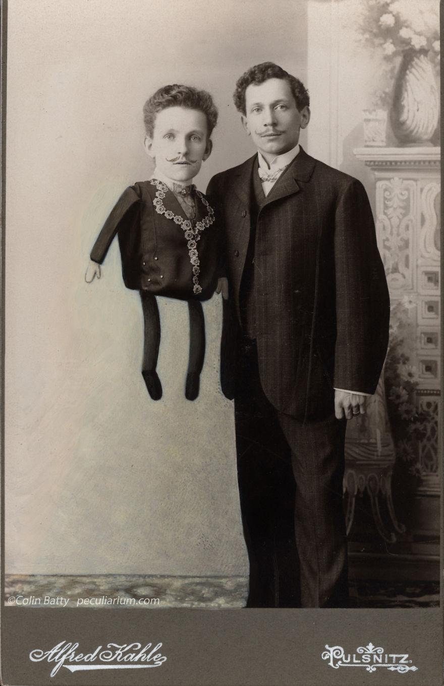 Фантасмагорические образы в изменённых ретро фотографиях