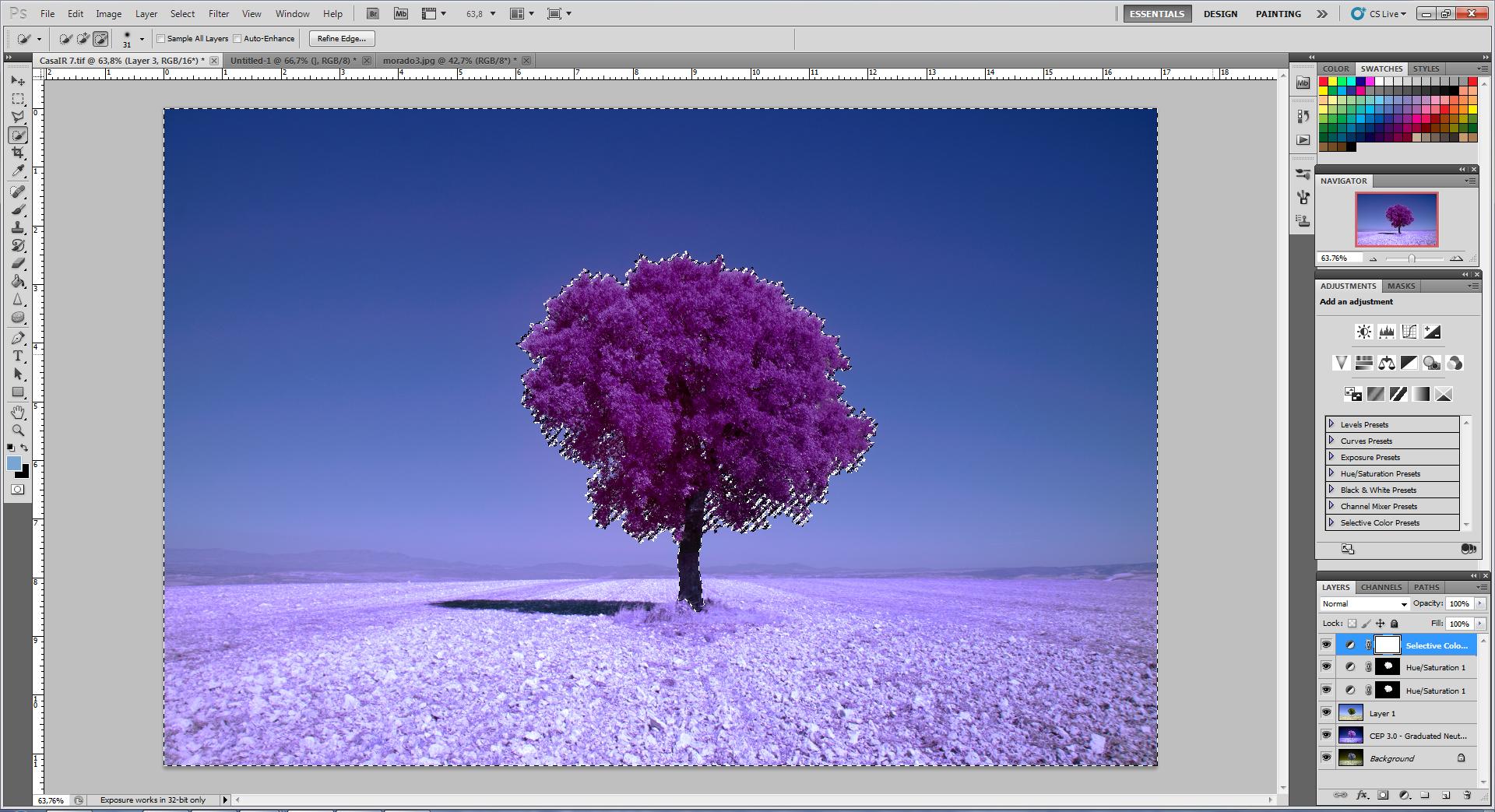 Как превратить пейзажное фото в сюрреалистическое инфракрасное изображение - 10