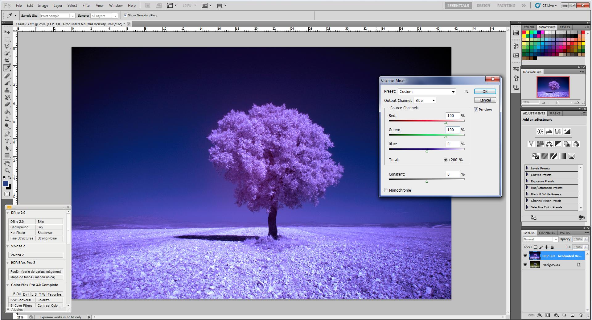 Как превратить пейзажное фото в сюрреалистическое инфракрасное изображение - 5