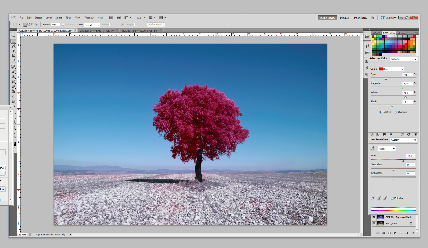 Как превратить пейзажное фото в сюрреалистическое инфракрасное изображение - 11a