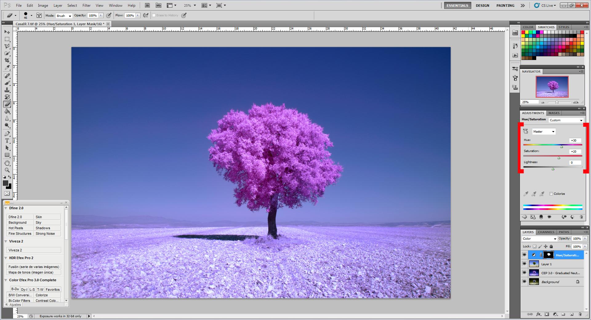 Как превратить пейзажное фото в сюрреалистическое инфракрасное изображение - 8