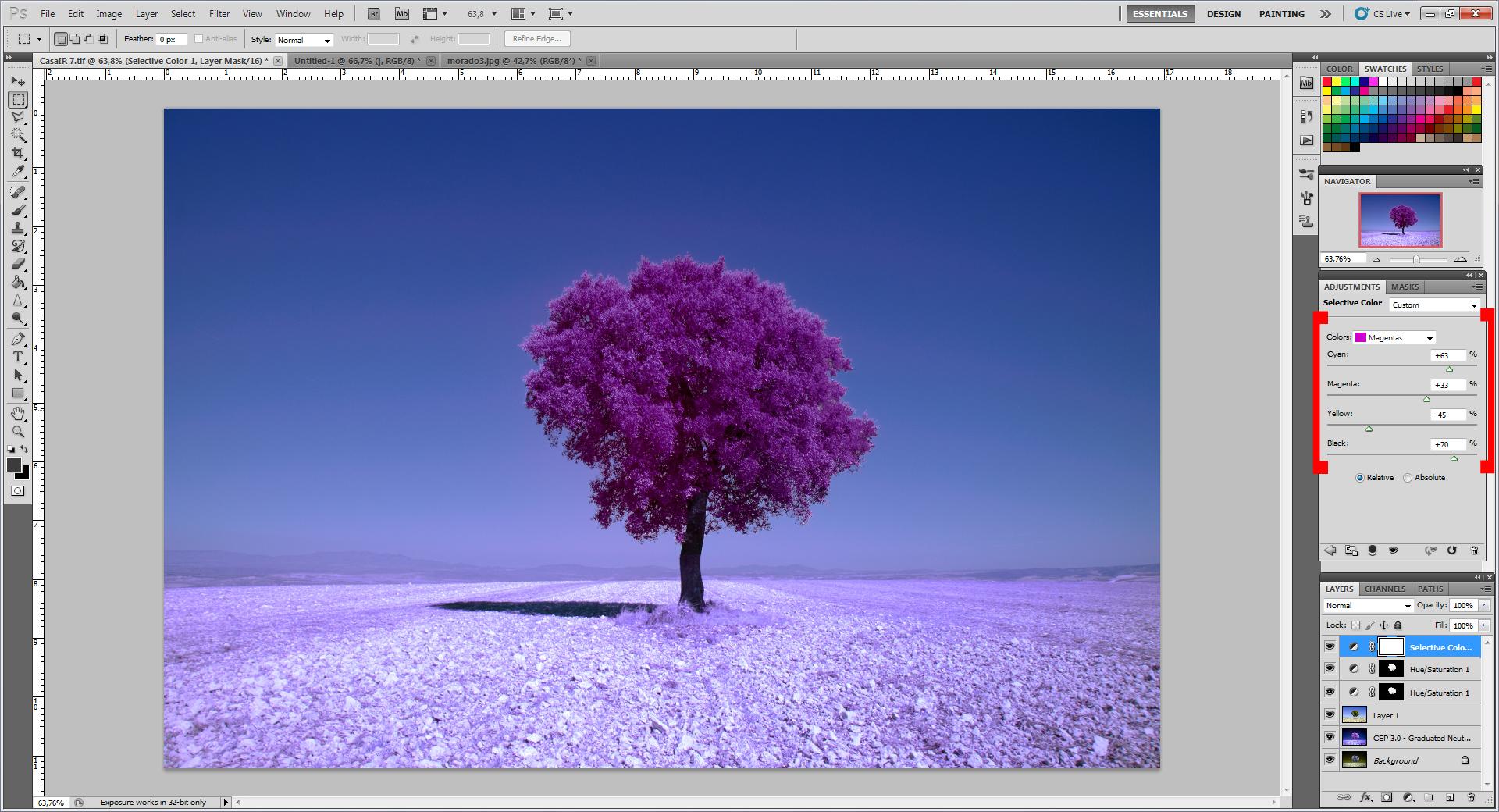Как превратить пейзажное фото в сюрреалистическое инфракрасное изображение - 9