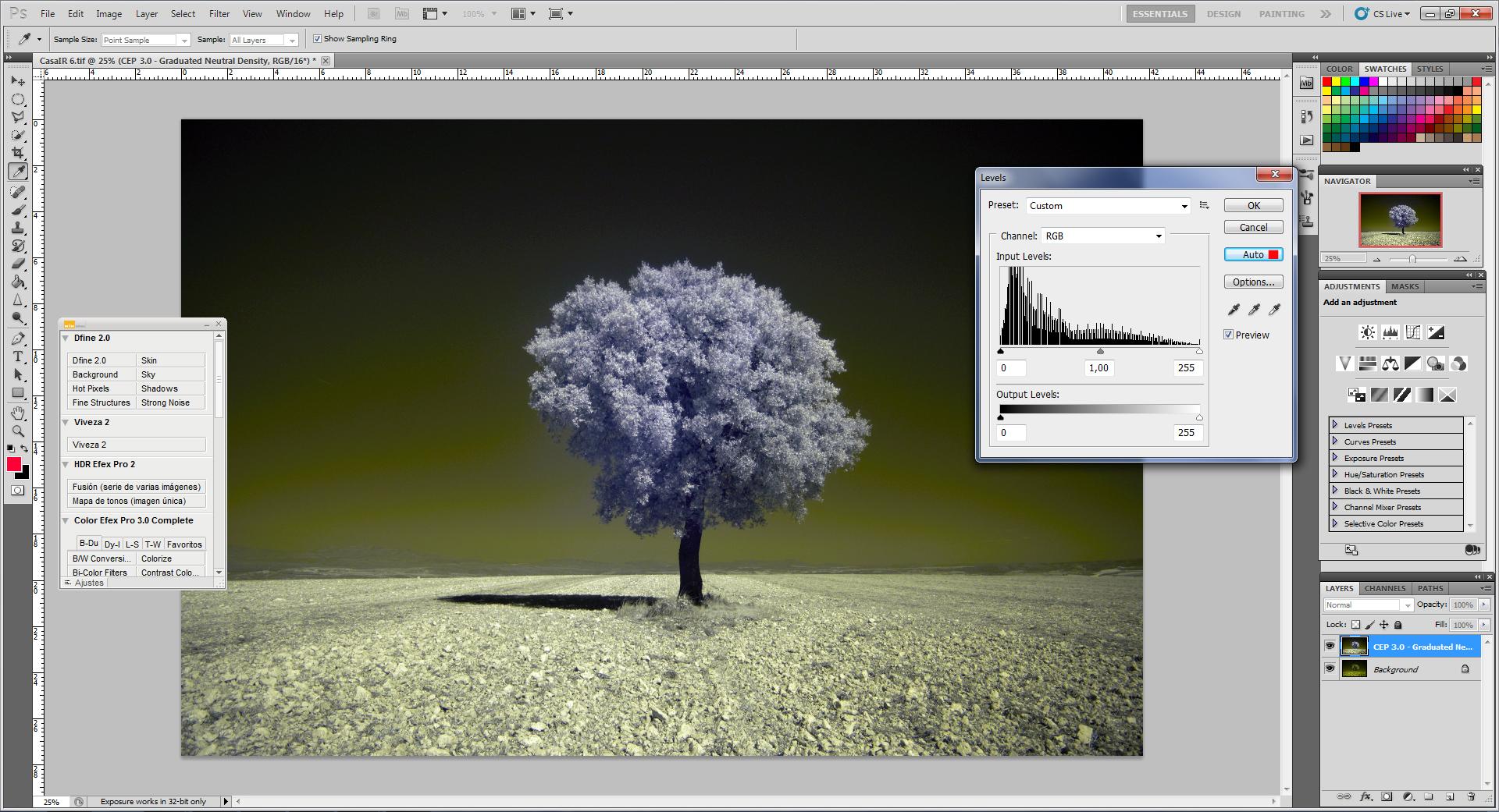 Как превратить пейзажное фото в сюрреалистическое инфракрасное изображение - 4